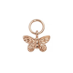 Olivia Burton Butterfly Huggie Charm Rose Gold
