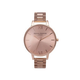 Olivia Burton Big Dial Bracelet Rose Gold Watch