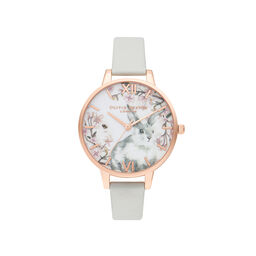 Olivia Burton Bunny Demi Vegan Grey & Rose Gold Watch