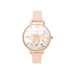 Olivia Burton Enchanted Garden Nude Peach & Pale Rose Gold