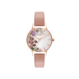Olivia Burton Enchanted Garden Dusty Pink & Rose Gold Watch