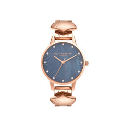 Olivia Burton Mermaid Watch Rose Gold & Navy Mother of Pearl