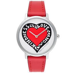 Rebecca Minkoff Ladies Major Red Leather Watch