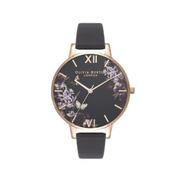 Olivia Burton Blooms & Butterflies Black And Rose Gold