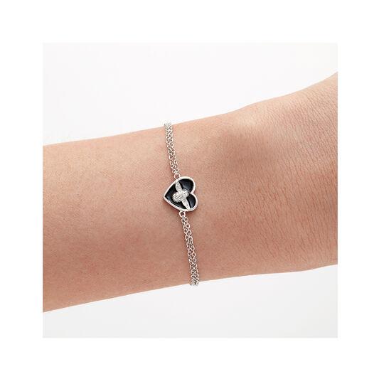 Olivia Burton Love Bug Chain Bracelet Black & Silver