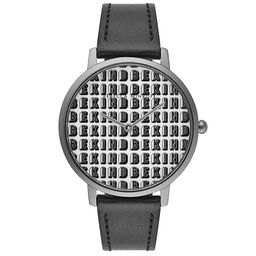 Rebecca Minkoff Ladies Major Black Leather Watch