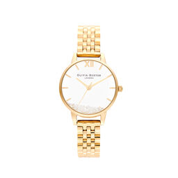 Olivia Burton Wishing Watch, Gold Bracelet