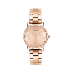 Coach Ladies Grand Rose Gold Plated Watch