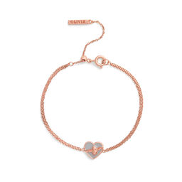 Olivia Burton Love Bug Chain Bracelet Grey & Rose Gold