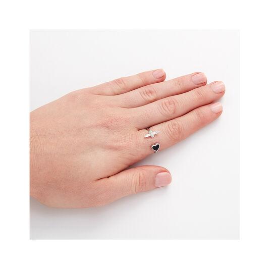 Olivia Burton Love Bug Ring Black and Silver