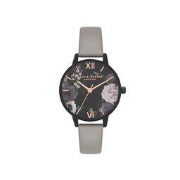 Olivia Burton After Dark Marble Floral Grey, Black & Rose Gold Watch