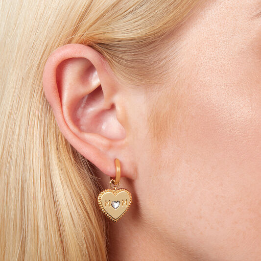 Made for Mom Huggie Hoops Gold