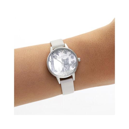 Olivia Burton Snow Globe Blush & Silver