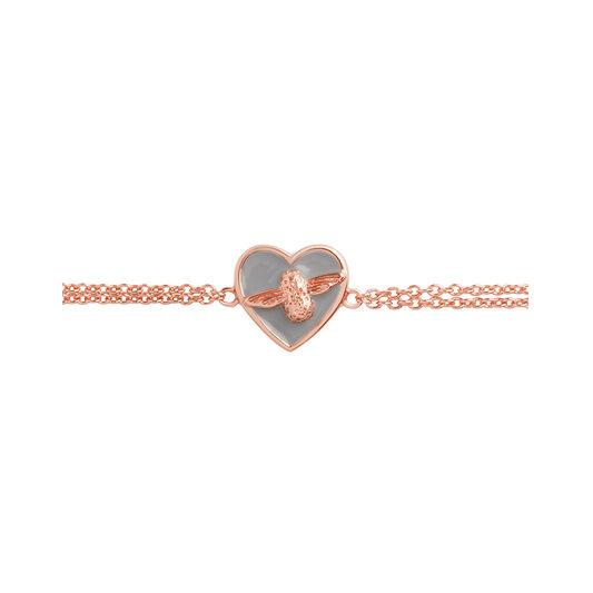 Olivia Burton Love Bug Chain Bracelet Grey & Rose Gold