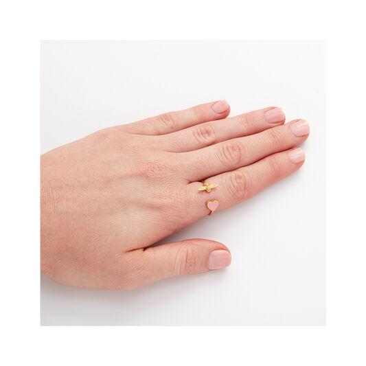 Olivia Burton Love Bug Ring Grey & Rose Gold