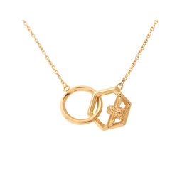 Olivia Burton Honeycomb Bee Necklace Gold