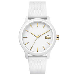 Lacoste Ladies Lacoste.12.12 White Silicone Watch