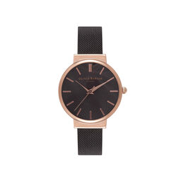 Olivia Burton Midi White Dial Rose Gold and Black Watch