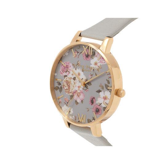 Olivia Burton Flower Show Big Dial Grey & Gold Watch