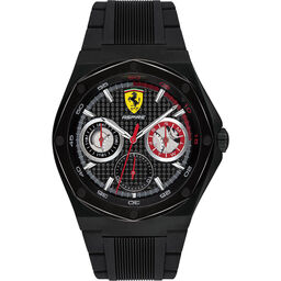 Scuderia Ferrari Men's Aspire Black Silicone Watch