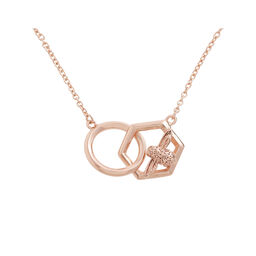 Olivia Burton Honeycomb Bee Necklace Rose Gold