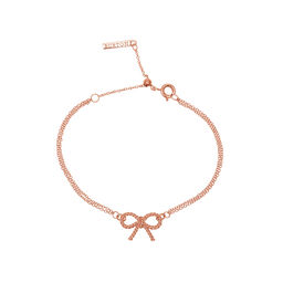 Olivia Burton Vintage Bow Chain Bracelet Rose Gold