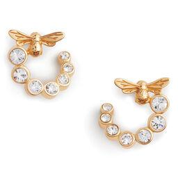 Olivia Burton Bejewelled Bee Women's Swirl Hoop Earrings