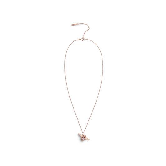 Olivia Burton Bejewelled Bee Necklace Rose Gold & Amethyst