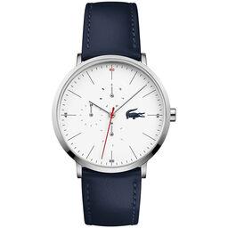 Lacoste Men's Moon Blue Leather Watch