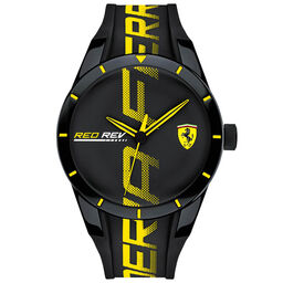 Scuderia Ferrari Men's RedRev Black Silicone Watch