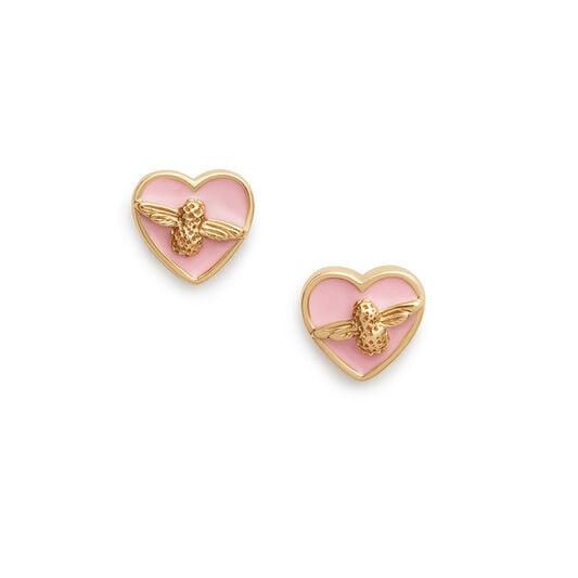Olivia Burton Love Bug Studs Pink & Gold