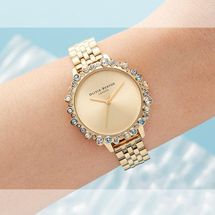 Gold-toned watches